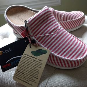 Spenco Siesta Slide Size 8 Montauk Red Stripe NIB